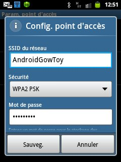 ssid du point d'accès mobile